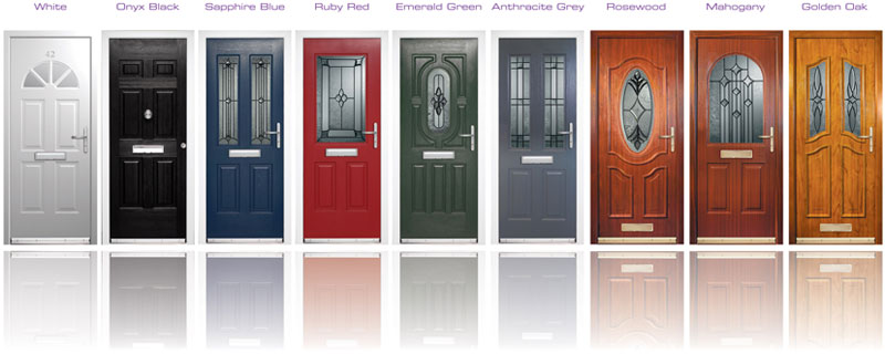 Coloured UPVC Front Doors